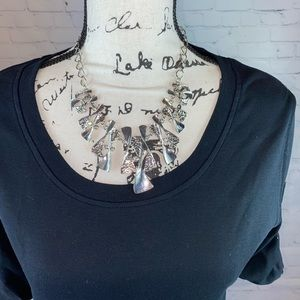 NWT Silver Toned Necklace & Earring Set